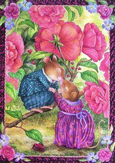 cute pictures of Susan Wheeler Susan Wheeler, Beatrix Potter, Lapin Art, Art Fantaisiste, Marjolein Bastin, Bunny Art, Cute Mouse, Woodland Creatures, Whimsical Art