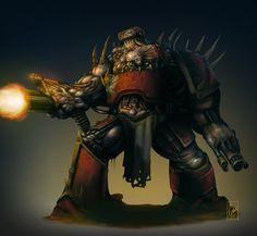 Chaos Obliterator by Filip-Hammer on DeviantArt Warhammer 40k Art, Warhammer 40k Miniatures, Blood Magick, Chaos 40k, Far Future, Game Workshop, The Grim, Space Marine, Marines