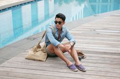 Resort dressing at its finest. Ootd Poses, Feeling Fine, Resort Dresses, Longchamp, Dressing, Menswear, Tote Bag, How To Wear, Bags