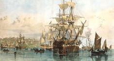 thomas picken australia - Emigrants leaving the ship, Sydney Cove First Fleet, Botany Bay, Ship Of The Line, Devon Uk, Tall Ships, Sailing Ships, Australia, Sydney, Pictures