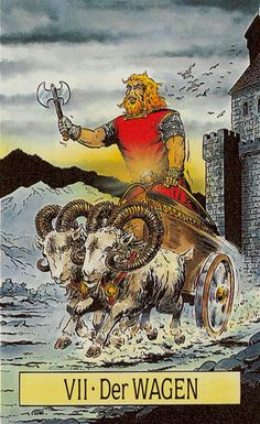 VII. The Chariot - Arcus Arcanum Tarot by Hansrudi Wascher