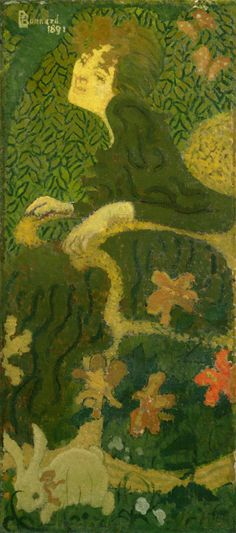 Pierre Bonnard - Young Girl Sitting with a Rabbit