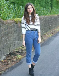 Charlotte rocks some vintage 501's at http://www.charlestownvintage.com  Get yours here http://www.bragvintage.co.uk  #bragvintage #vintagejeans #levis