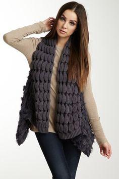 Smitten Fur Knit Vest
