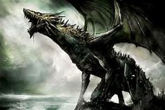 Image result for black scary dragon