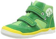 Richter Kinderschuhe Albert S - Zapatos de primeros pasos de cuero bebé, color verde, talla 20