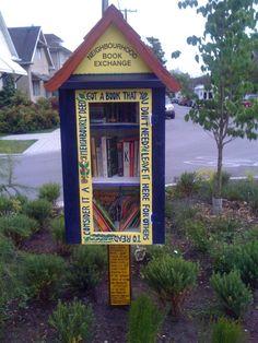 Neighborhood book swap - awesome idea.
