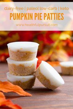 Fat Bomb Pumpkin Pie Patties - Low Carb
