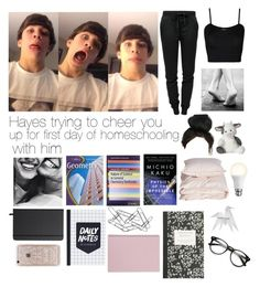 """""""Homeschool with Hayes ❤️"""" by lindseypage ❤ liked on Polyvore featuring T By Alexander Wang, WearAll, Aiayu, Shinola, Belkin, Home Decorators Collection, Rifle Paper Co, J.Crew and Hermès"""