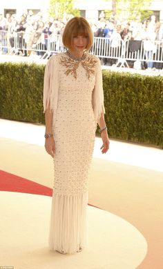 Overseeing the action! Vogue editor-in-chief Anna Wintour, who is chairwoman of the Met Ga...