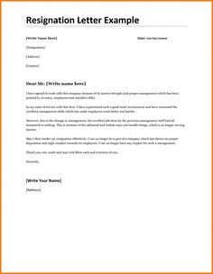 Image Result For Printable Resignation Letter  Resignation Letter