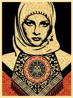 Shepard Fairey - Arab Woman Gold