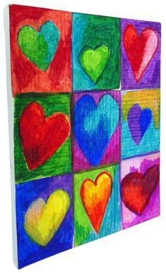 Valentine Art Project with Sharpies · Art Projects for Kids canvas art Valentine Art Project with Sharpies · Art Projects for Kids Sharpie Art Projects, Class Art Projects, Canvas Art Projects, Auction Projects, Project Projects, Group Projects, Kindergarten Art, Preschool Art, Sharpie Canvas