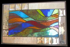 "Stained Glass Window  ""Rainbow Lights"" Panel. $149.00, via Etsy."
