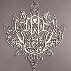 Hamsa Hand Decoration with Lotus incorporated Hand Tattoos, Hamsa Hand Tattoo, Hamsa Art, Flower Tattoos, Body Art Tattoos, Script Tattoos, Arabic Tattoos, Tatoos, Mandala Art