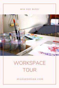 Take a tour with me in my little creative space | Running a small business at home Artist Workspace, Surface Pattern Design, Creative Studio, Designers, Tours, Artists, Running, Wall Art, Business
