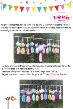 Souvenirs Pajarito Nacimiento Baby Shower Cumpleaños - $ 29,00 Baby Shower, Crochet Necklace, Buntings, Deco, Garlands, Print Fabrics, Ornaments, Wooden Beads, Birth