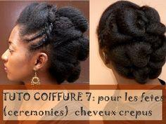HAIRSTYLE: chic pour ceremonie fetes et soirée , mariage pour cheveux crepusLECTERFRO - YouTube