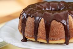 Lemon Bundt Cake with Chocolate Glaze and Candied Lemon by Giada De Laurentiis | GiadaWeekly.com