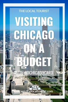 There are so many things to do in Chicago, and you want to do it all, but it can get to be SO expensive. With the Go Chicago Card you pay one price and receive free admission to more than 25 Chicago attractions. When you're visiting Chicago on a budget, this is definitely a great way to save money.