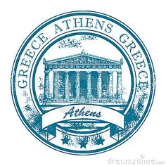 Grunge rubber stamp with Parthenon and the word Athens, Greece inside Stock Vector - 13872350 Menu Vintage, Travel Stamp, Travel Logo, Grunge, Passport Stamps, Parthenon, Printable Stickers, Vinyl, State Art