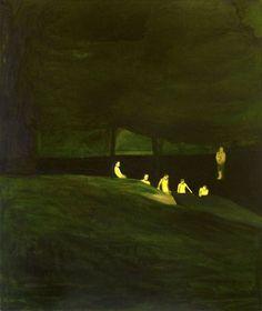 Hrvoje Majer (Croatian, b. 1975), Swimmers, 2006. Oil on canvas, 120 x 100 cm.