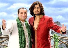 Rahat Fateh Ali Khan & Sonu Nigam Rahat Fateh Ali Khan, Sonu Nigam, Indian Man, Indian Celebrities, Musicals, Legends, Stars, Books, People