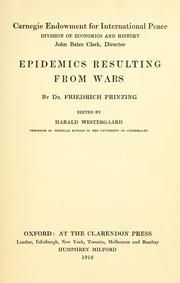 Epidemics resulting from wars : Prinzing, Friedrich, 1859- : Free Download & Streaming : Internet Archive