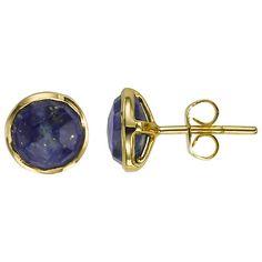 Buy John Lewis Gemstones Gold Plated Round Stud Earrings Online at johnlewis.com