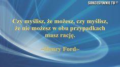Myśl Forda...