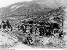 A scene on the road between Jericho and Jerusalem, showing the transport waggons pulled by tractors of the Australian Light Horse. 10 March, Lest We Forget, Ottoman Empire, Historical Pictures, World War I, Wwi, Jerusalem, First World, Middle East