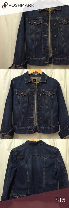 Gap denim jacket Gap denim jacket with copper colored buttons GAP Jackets & Coats Jean Jackets