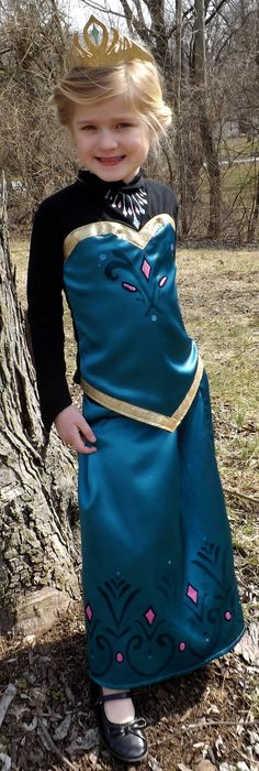 Elsa Frozen Coronation Dress and Cape PDF Pattern by joy2sew