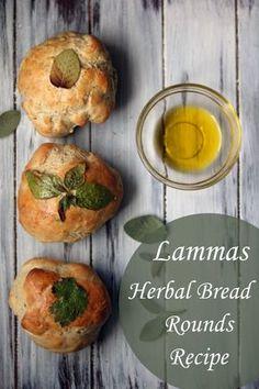 Lammas Artisan Mini Herbal Bread Rounds Recipe (Lughnasadh) - Moody Moons