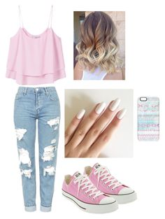 """Untitled #92"" by luciacampbell ❤ liked on Polyvore featuring MANGO, Topshop, Converse and Casetify"