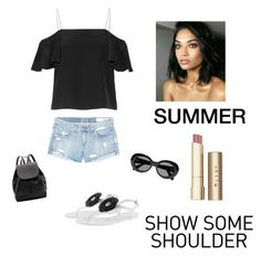 """Summer"" by kotnourka ❤ liked on Polyvore featuring rag & bone/JEAN, Fendi, Armani Jeans, Acne Studios, Stila and Witchery"