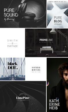 100 Typo Logos + 100 Logo Frames by AgataCreate on @creativemarket