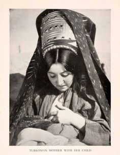 Turkmen Mother with her Child, 1934.