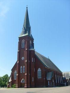 St. Simon & St. Jude Church (Tignish Church),  Prince Edward Island, Canada