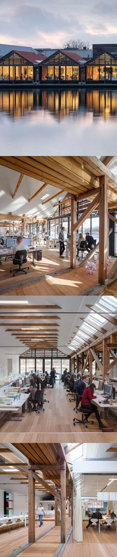 3XN Architects houseboat office Old Boat Houses Were Converted Into New Offices For These Architects