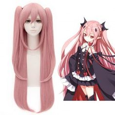 SHARE & Get it FREE | Extra Long Side Bang Fashion Glossy Straight Charming Pink Krul Tepes Cosplay Wig With BunchesFor Fashion Lovers only:80,000+ Items • FREE SHIPPING Join Twinkledeals: Get YOUR $50 NOW!