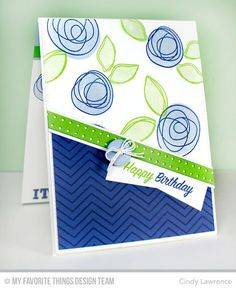 Blueprints 15 Die-namics, Blueprints 18 Die-namics, Circle Scribble Flowers, Totally Happy - Cindy Lawrence #mftstamps