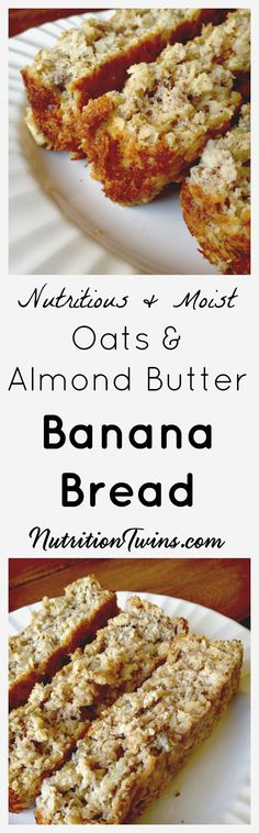 At only 150 calories, this Almond Butter Banana Bread is the perfect nutritious breakfast treat that will also satisfy your dessert cravings. Sport Nutrition, Nutrition Tips, Fitness Nutrition, Animal Nutrition, Holistic Nutrition, Nutrition Education, Breakfast Recipes, Dessert Recipes, Almond Butter