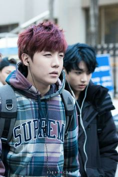 sleepy J-Hope- red hair and jungkook