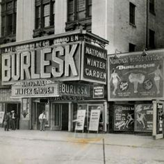 New York was once a mecca for burlesque, with clubs like the National Winter Garden. 1920s-50s