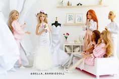 Barbie Life, Barbie World, Dress Up Dolls, Barbie Dress, Barbie Wedding Dress, Wedding Dresses, Barbie Stories, Barbies Pics, Barbie Fashionista Dolls