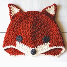 Crochet For Children: Fox Hat. Free Crochet Pattern by concepcion Crochet Kids Hats, Crochet Beanie, Knit Or Crochet, Cute Crochet, Crochet Crafts, Crochet Hooks, Crochet Projects, Crocheted Hats, Knitted Hat