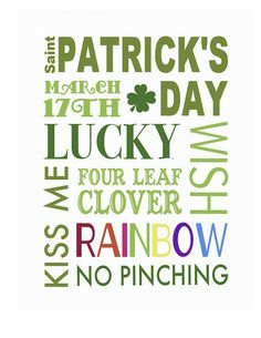 Free Printable for St. Patrick's Day