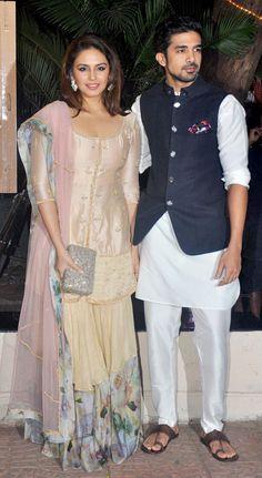 Huma Qureshi with brother Saqib Saleem at Ekta Kapoor's Diwali bash.
