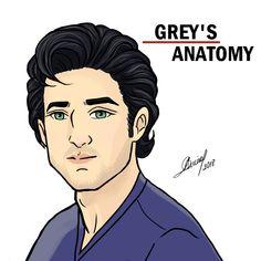 Derek Shepherd, Greys Anatomy Callie, Greys Anatomy Facts, Grays Anatomy, Grey's Anatomy Wallpaper Iphone, Calliope Torres, Exam Motivation Quotes, Castle Tv, Disney Drawings